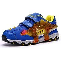 Zapatillas De Deporte De Dinosaurio para NiñOs, NiñOs, NiñOs Zapatillas De Deporte De NiñOs LED para NiñOs Zapatillas De Tenis para NiñOs De Moda Zapatillas Informales