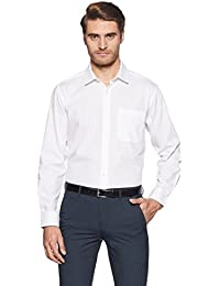 Symbol Amazon Brand Men's Plain Regular Fit Cotton Formal Shirt