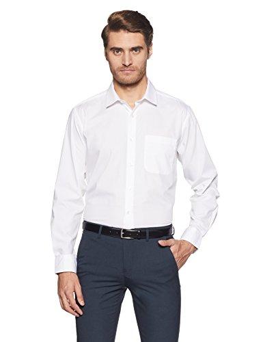 Amazon Brand - Symbol Men's Solid Regular Fit Full Sleeve Cotton Formal Shirt (AW17MFS229_White_40)