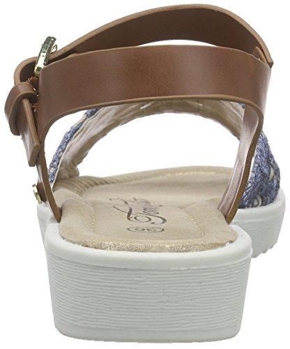 Tom Tailor 9670504, Sandales fille Bleu (Jeans/Brown)