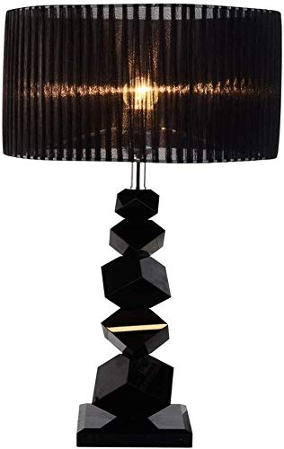 Weiyue Lámpara de Mesa- Negro Tabla luz de Cristal Moderna lámpara ...