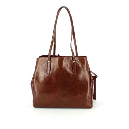 Leder The Donna Story cm Bridge Marrone 32 Shopper Tasche qqXU4