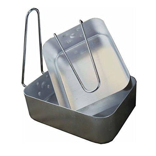 Sunnflair 2 x pliante en aluminium batterie de cuisine camping pique-nique barbecue Bol de gamelles Plateau