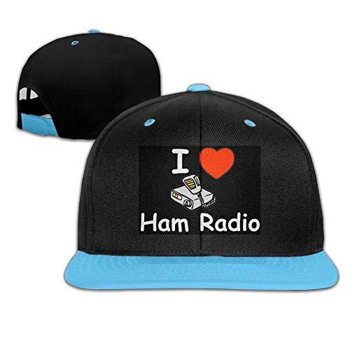 Adgjhbvn Unisex Kid's Hip Hop Baseball Cap and Hat Boy Girl I Heart Ham Radio Hip Hop-Mützen Baseballmützen (Ham-radio-bekleidung)