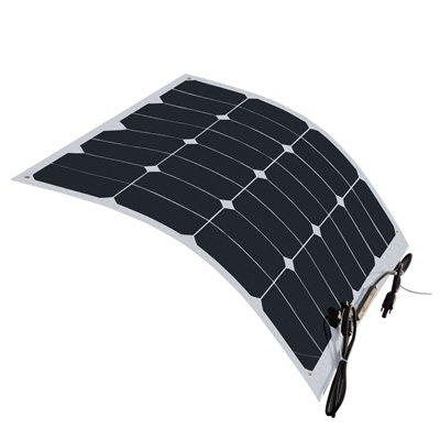 HQST 50 Watt 12 Volt Monocrystalline Lightweight Solar Panel for RV/ Boat/ Other Off Grid Applications