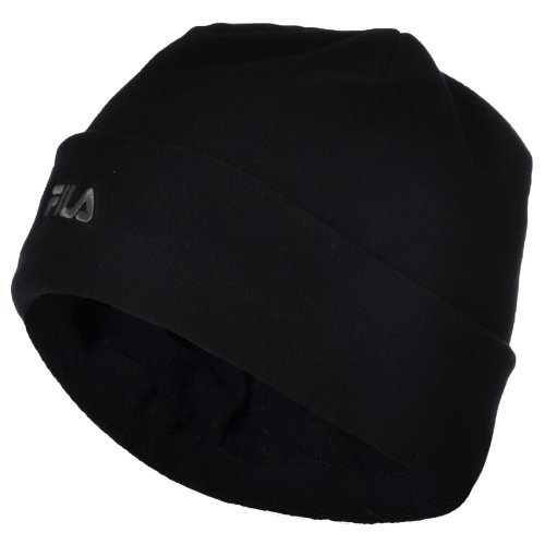fila-mens-womens-thermal-fleece-winter-warm-turn-up-beanie-hat-black-m