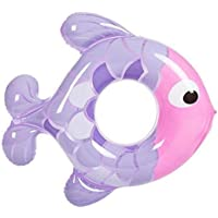 Summens Anneau de natation poisson dessin animé gonflable Bouée PVC Poignées Jouet de Plage / Piscine Cercles grande flottabilité nager de natation Pour enfants