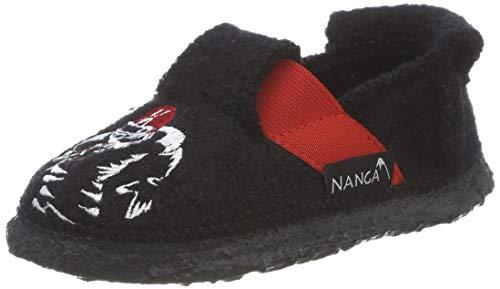 Nanga Jungen Football Pantoffeln, Schwarz 50, 29 EU