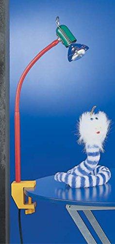 Busch Bärchen LED Kinder-Klemmleuchte 1 x 5W, Farbe: Metall mehrfarbig / bunt, 333 Lumen, extra warmweiß (2.700 K)