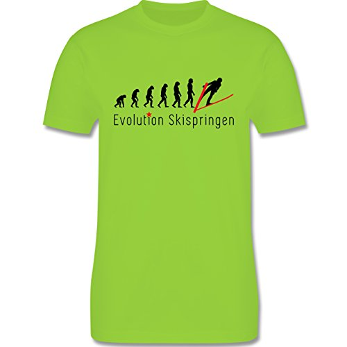 Evolution - Skispringen Evolution - Herren Premium T-Shirt Hellgrün