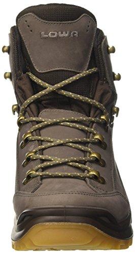 Lowa Renegade Gtx Mid, Stivali da Escursionismo Uomo Grigio (Stein/Dunkelbraun)