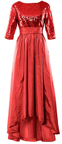 MACloth - Robe - Trapèze - Manches 3/4 - Femme red