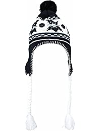MYRTLE BEACH - Bonnet tricot péruvien norvégien - MB7927 - adulte mixte - noir / blanc