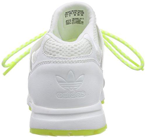 adidas Originals Racer Lite, Low-Top Sneaker femme blanc (Ftwr White/Ftwr White/Solar Yellow)