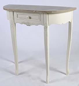 Viktorianische range halbrunder tisch shabby for Halbrunder tisch