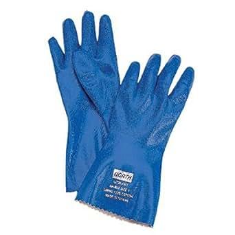 North Safety 068-NK803 / 9 Nitri-Knit Glove Dippednitrile-Interlock Knitte