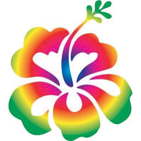Hibiscus Flower Spectrum-Sticker