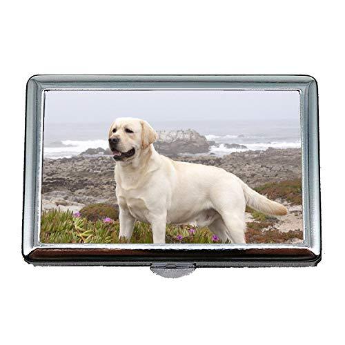 (Zigarettenetui Leichtgewicht, Französisch Bulldog Labrador Hund hd, Kreditkartenetui für Frauen Männer)