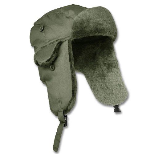 Piloten-Pelzmütze MA1® oliv (Pilot Military Kostüm)