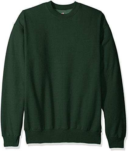 Hanes Men's ComfortBlend Crewneck Sweatshirt, Deep Forest, Medium