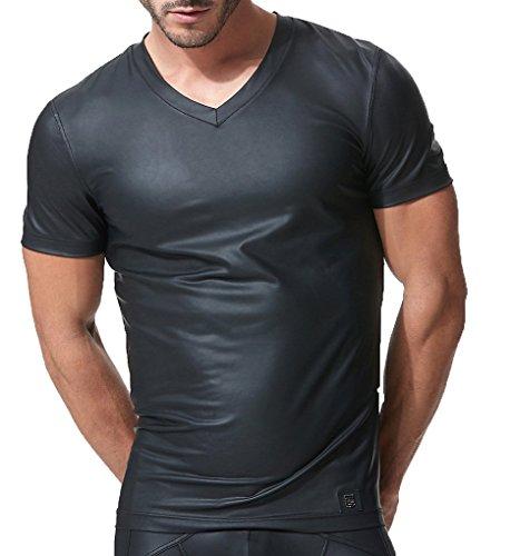 9d8ce596e75f2 Gregg Homme T-Shirt col V Crave 152607 BLK - L, Noir (02