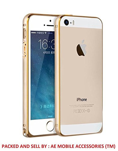 Ae Mobile AccessorizeCircular Arc Shape Metal Bumper Case For Apple iPhone 5 / 5s GOLD  available at amazon for Rs.299