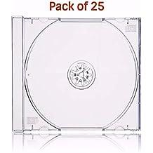 MasterStor (25unidades) 10,4mm lomo Single CD Jewel Case Transparente Bandeja–Protege de arañazos y caídas Con Este Fuerte función resistente al impacto.