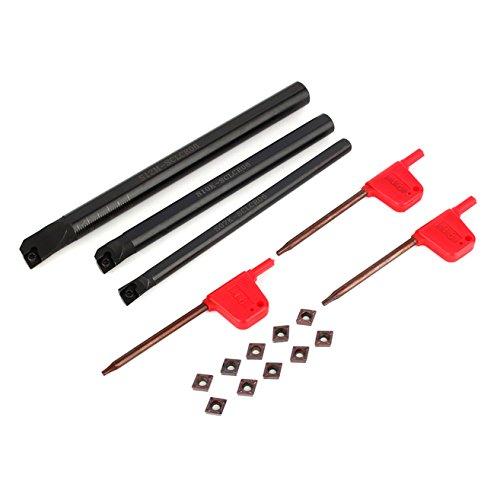 3 pezzi di tornio alesatura interna per barra di tornitura 10 pz inserto con chiave a 3 pezzi