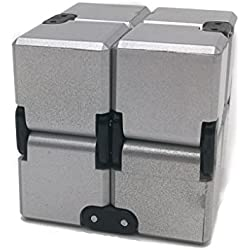 Infinity Cube / Fidget Cube. Juguete anti estrés / ansiedad. Plateado