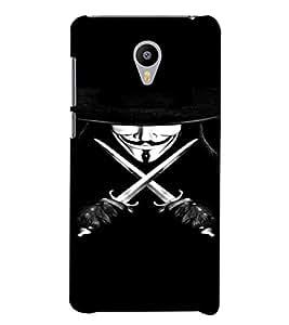 PrintVisa Vendetta Design 3D Hard Polycarbonate Designer Back Case Cover for YU Yunicorn