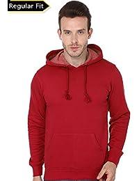 Men's Hooded Sweatshirt-360 (Red Colour)