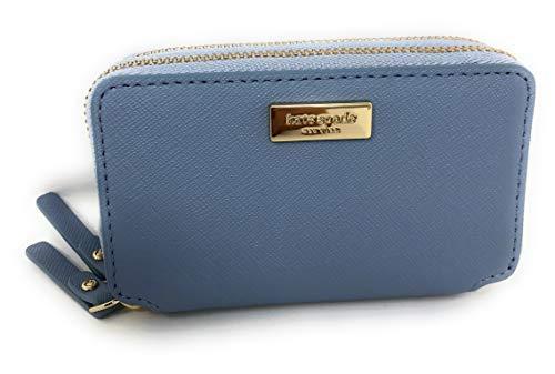 Kate Spade Rosie Laurel Way Double Zip Around Wallet Cloudcover Blue Blue Laurel