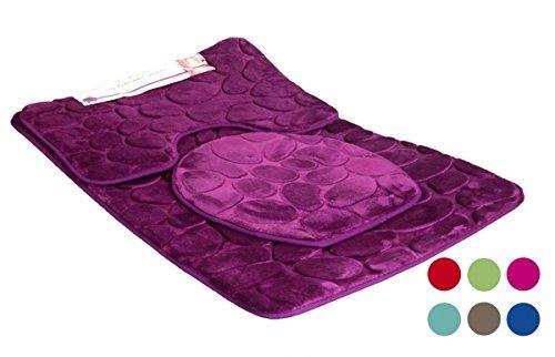 King Baño Conjunto 3tlg 80x50cm en div. Colores - lila, morado