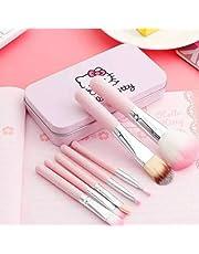 Hello Kitty Mini 7 Piece Brush Set for Women (Pink)