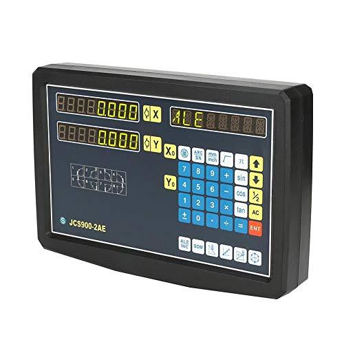 2-Achsen-Digitalanzeige DRO mit Zubehör Messgeräte Ausrüstung für Drehbank-Fräsmaschine (110-240V)