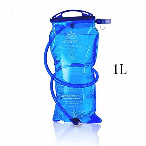 Imagen de aonijie 1l/1.5l/2l/3l bolsa de agua plegable equitación correr al aire libre montañismo  bolsa de potable, 1 litro