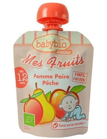 Mes Fruits Bio - Gourde Pomme Poire Pêche - 4x90g
