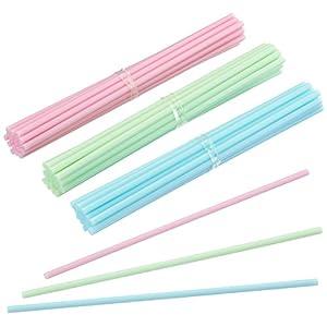 60 Cake Pop Sticks 15 cm, Pastellfarben,Kitchencraft, Kunststoff Stiele für Kuchen am Stiel