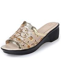 eef158f86877e Amazon.it  ciabatte - Oro   Pantofole   Scarpe da donna  Scarpe e borse