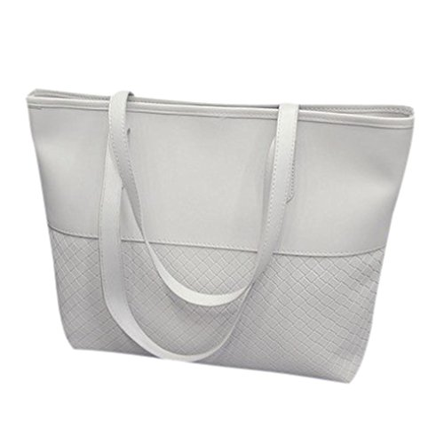 Handtasche Damenhandtaschen Ronamick Frauen Handytasche Schultertasche Satchel große Umhängetasche Tasche Henkeltasche Umhängetasche Schultertasche (Weiß)