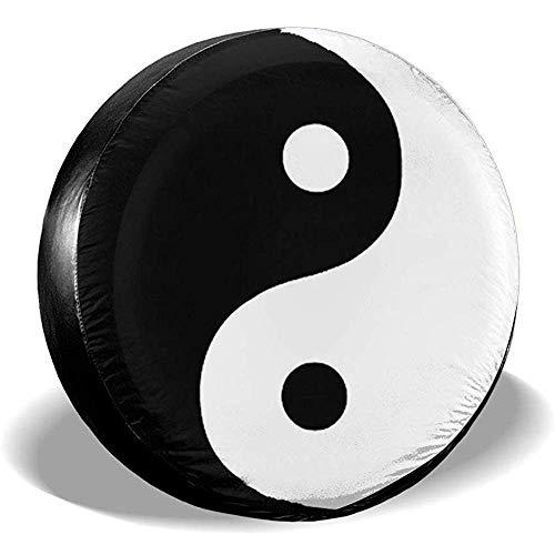 Hiram Cotton Spare Tire Cover Simbolo Cinese Yin Yang Tao Qigong Ruota di Scorta Copertura Pneumatici Fuoristrada velocità Estrema Overdrive Univers
