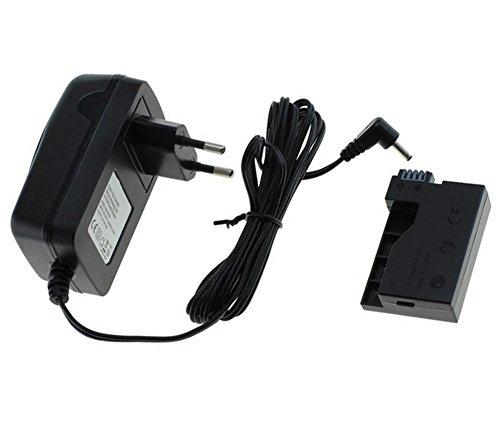 PDA-Punkt Netzteil-Adapter/Ladegerät für Kamera Canon EOS 550D / 600D / 650D / 700D / Canon Rebel T2i / T3i / T4i / T5i inklusive ACK-E8 Coupler (Akkuadapter für LP-E8 Akkufach)