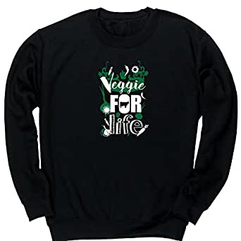 Hippowarehouse Veggie For Life Cow Motif Kids Children's Unisex Jumper Sweatshirt Pullover