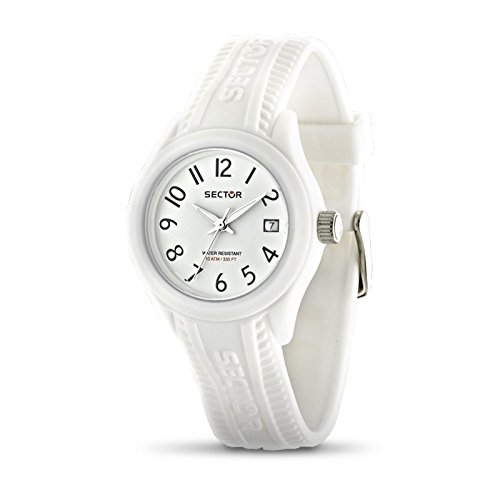 Sector Women's Quartz Watch with White Dial Analogue Display and White Silicone Strap R3251576507