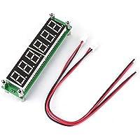 0.1MHz ~ 65MHz 6 LED Probador del contador de frecuencia de la pantalla digital de luz azul Módulo del fotómetro digital de alta luminosidad PLJ-6LED-H