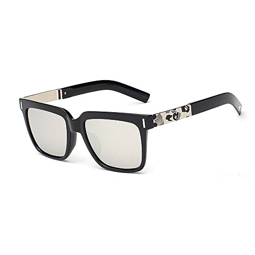 Yiph-Sunglass Sonnenbrillen Mode Retro-Stil umrandeten UV-Schutz-Druck-Bein-Sonnenbrille für Frauen-Männer im Freien, die Ferien-Sommer-Strand Fahren (Farbe : C3)