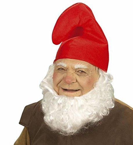 Zwergenmütze Schlumpfmütze Hut Mütze rot und weiß Zwerg Gnom Schlumpf Karneval Kostüm Fasching (1x rot) (Erwachsenen Papa Schlumpf Kostüme)