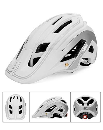 TIANMIAOTIAN Rennradhelm Herren Triathlon Tri Aero Helm Rennrad Ultraleicht Fahrradhelm Fahrradhelm Zubehör,White