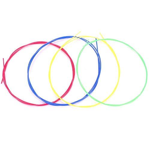 Dilwe Set di Corde per Ukulele, 4 Pezzi/Set di Corde in Nylon Colorato Accessorio per Parti di Ricambio per Ukulele