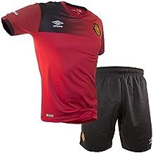 Umbro RCD Mallorca Home Conjunto de Camiseta y pantalón, Hombre, Rojo, 4-5 años